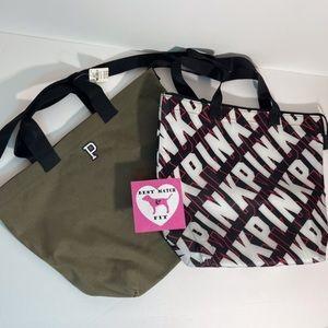 Victoria's Secret PINK Logo 2 Pc Cooler Bag Tote